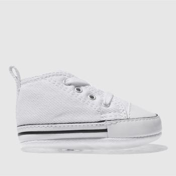 converse white 1st star ii crib shoes baby