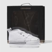 3fc5b827e Kids Unisex white converse 1st star ii crib shoes