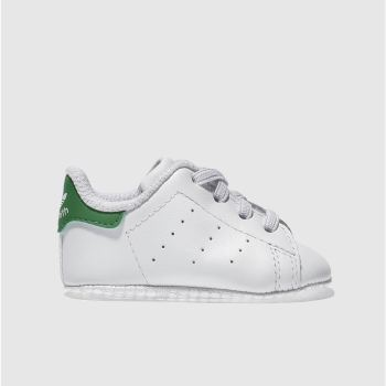 Adidas White & Green Stan Smith Crib Unisex Crib#