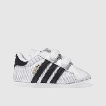 Adidas White   Black Superstar Mesh Unisex Crib e8fd6fb99