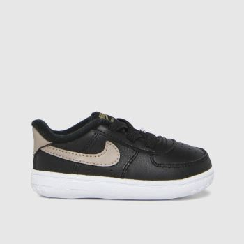 Nike Black & Gold Air Force 1 Unisex Crib