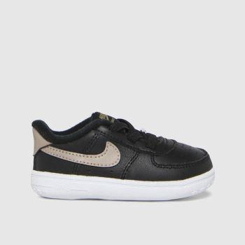 Nike Black & Gold Air Force 1 Unisex Crib