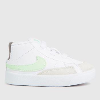Nike White & Beige Blazer Mid Crib Unisex Crib
