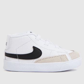 Nike White & Black Blazer Mid Crib Unisex Crib
