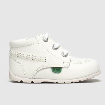 Kickers White Hi B Zip c2namevalue::Unisex Crib
