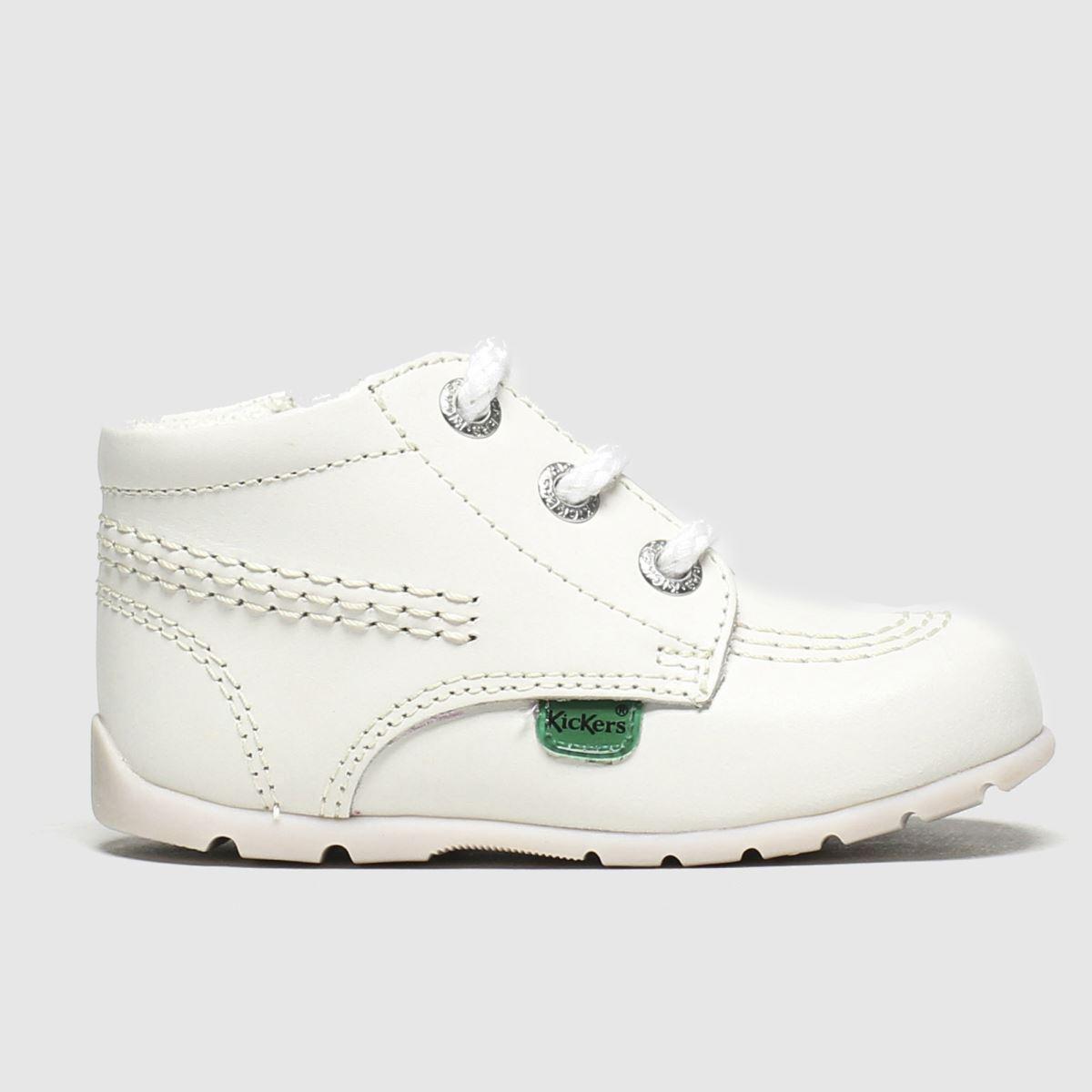 Kickers White Hi B Zip Shoes Baby