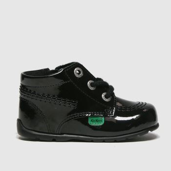 Kickers Black Hi B Zip Lthr Unisex Crib