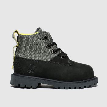 Timberland Black Rebotl 6in Premium Unisex Toddler