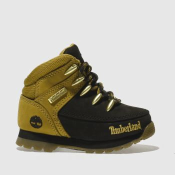 TIMBERLAND BLACK & GOLD EUROSPRINT BOOTS TODDLER