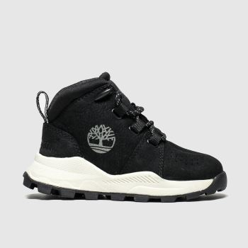 timberland black brooklyn city mid boots toddler