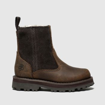 timberland dark brown courma boots toddler