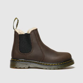 Dr Martens Dark Brown 2976 Leonore Unisex Toddler#