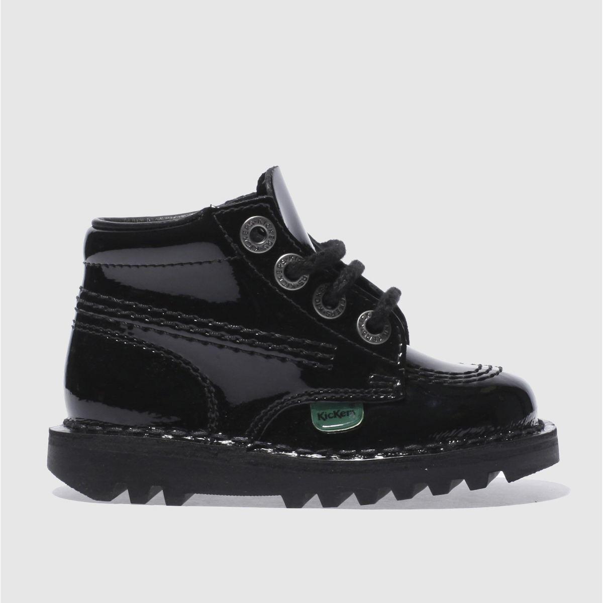 Kickers Black Kick Hi Patent Boots Toddler