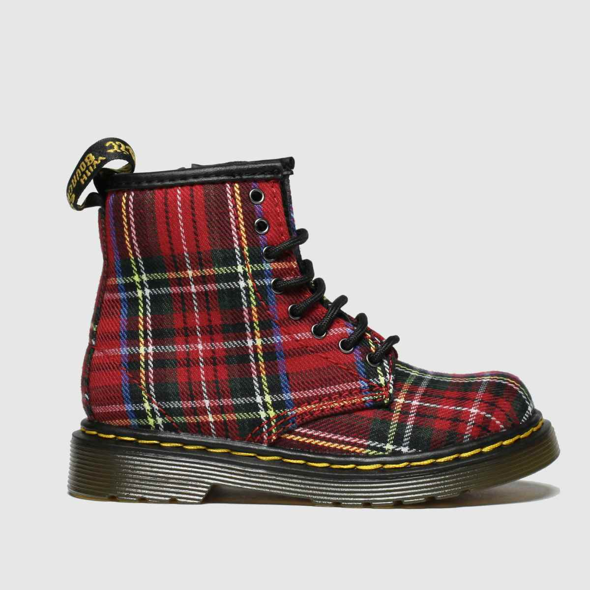Dr Martens Red & Blue 1460 Tartan Boots Toddler