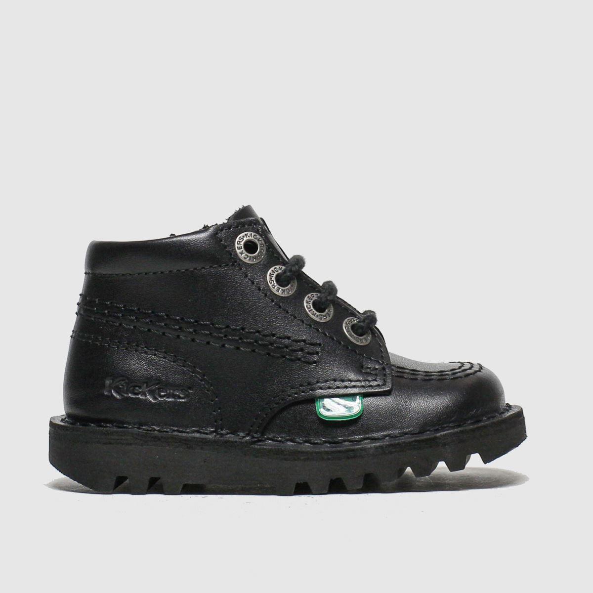 Kickers Black Hi Zip Boots Toddler