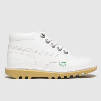 KicKers White Hi Zip Unisex Toddler
