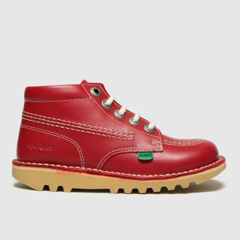 Kickers Red Hi Zip Unisex Toddler