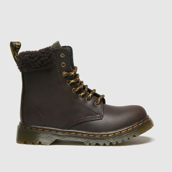 Dr Martens Dark Brown 1460 Collar Unisex Toddler