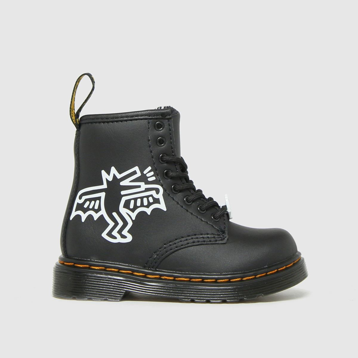 Dr Martens Black & White 1460 Keith Haring Boots Toddler