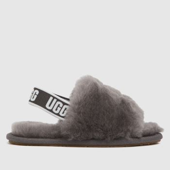 UGG Grey Fluff Yeah Slide Unisex Toddler