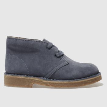 CLARKS ORIGINALS BLUE DESERT BOOT BOOTS JUNIOR