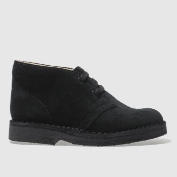 Clarks Originals Black Desert Boot Unisex Junior