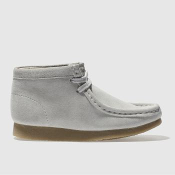 Clarks Originals Grey Wallabee Boot Unisex Junior