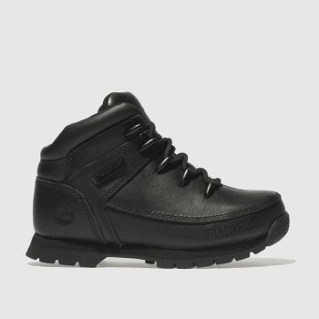 Timberland Black EURO SPRINT Unisex Junior