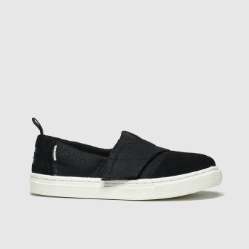 Toms Black Aliso Unisex Junior