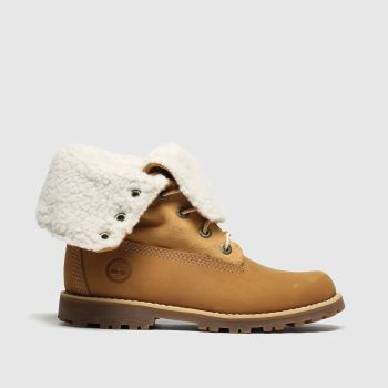Timberland Tan Authentic 6 Inch Unisex Junior