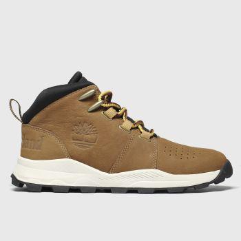 timberland tan brooklyn city mid boots junior