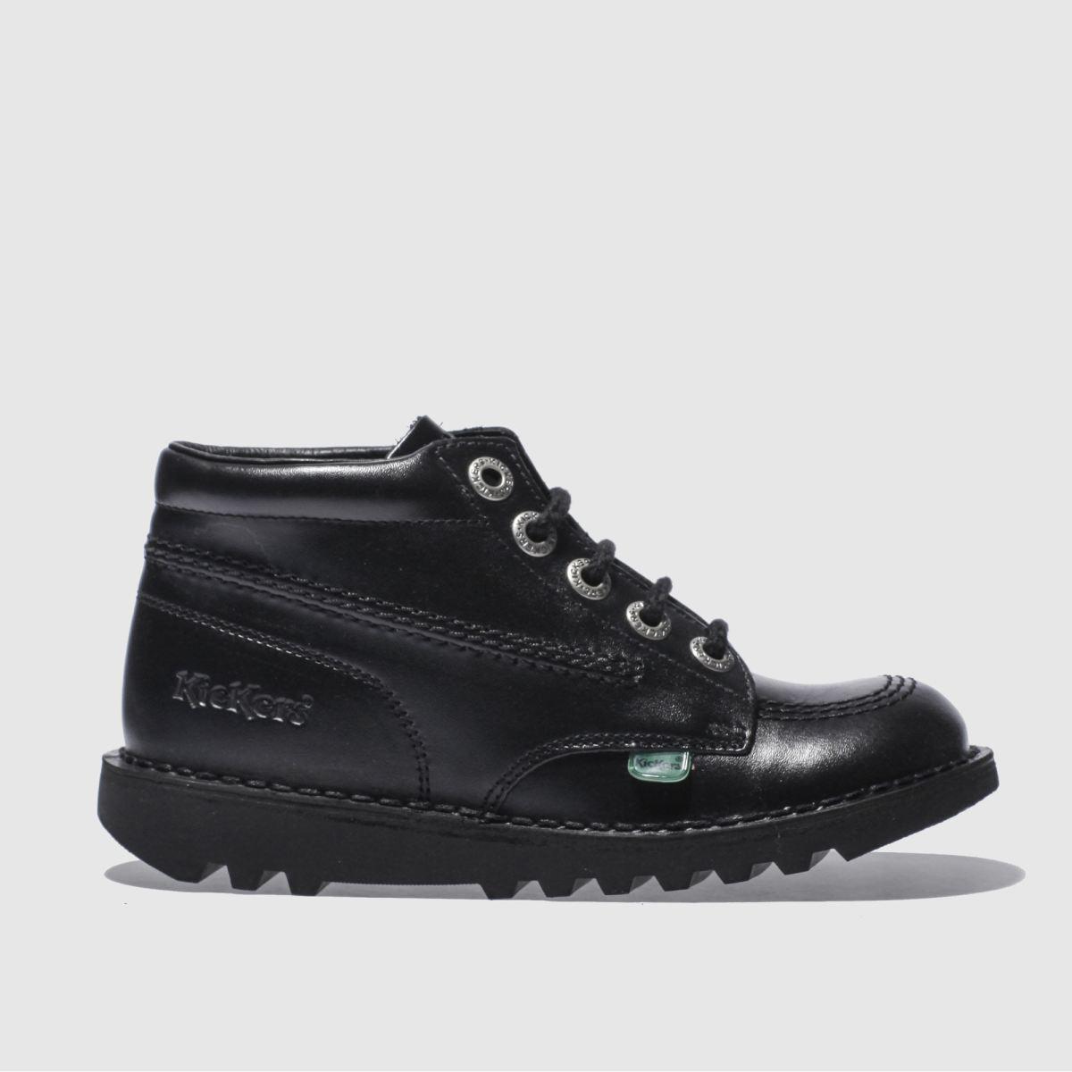 Kickers Black Kick Hi Boots Junior