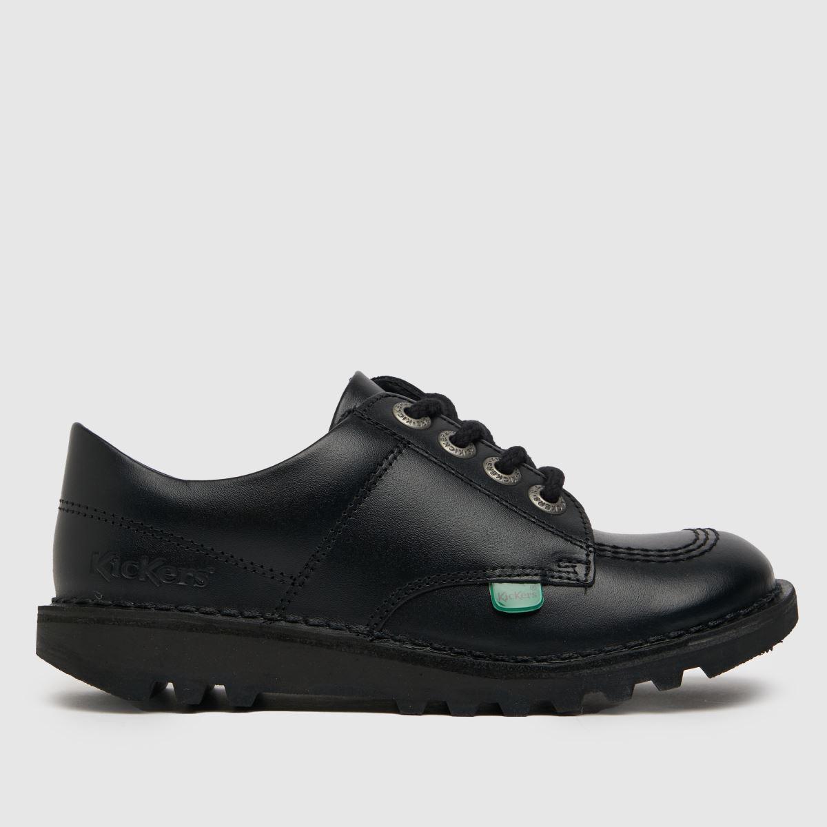 Kickers Black Kick Lo Shoes Junior