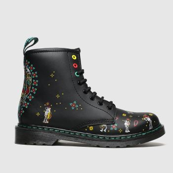 dr martens multi 1460 skull boots junior