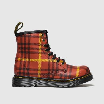Dr Martens Red 1460 Tartan Unisex Junior