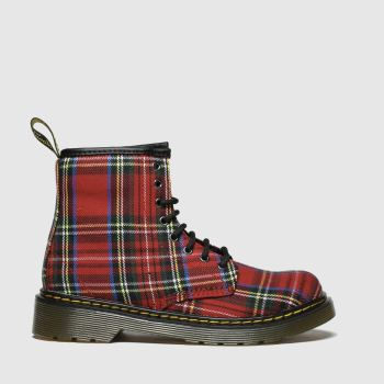 Dr Martens Red & Blue 1460 Tartan Unisex Junior