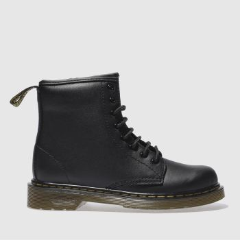 Dr Martens Black Delaney Lace Boot Unisex Junior