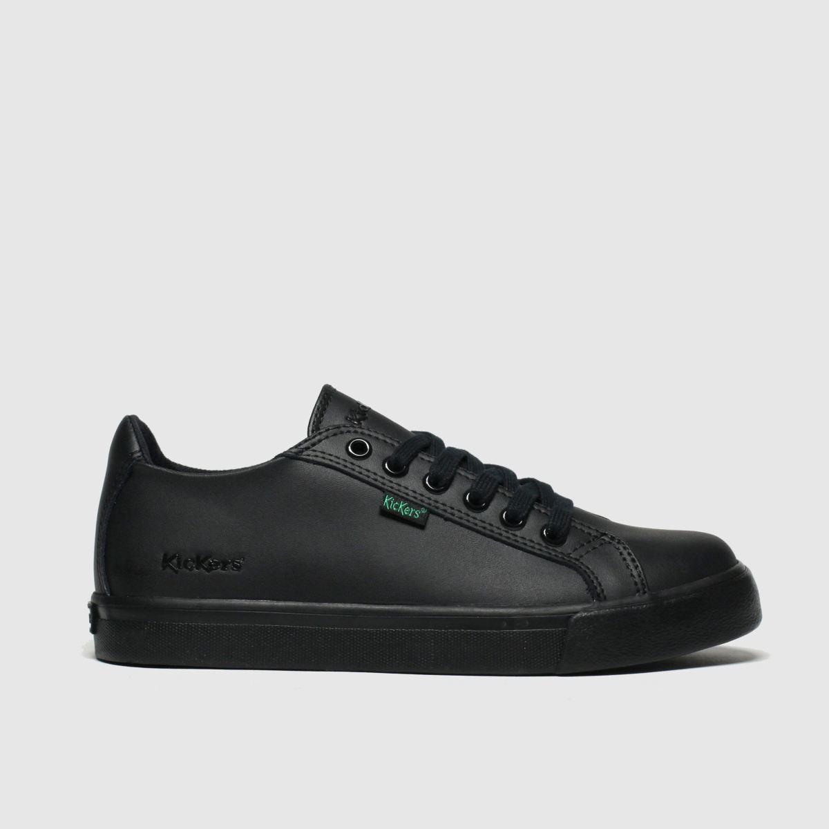 Kickers Black Tovni Lacer Shoes Junior