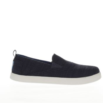 TOMS NAVY AVALON JUNIOR SHOES