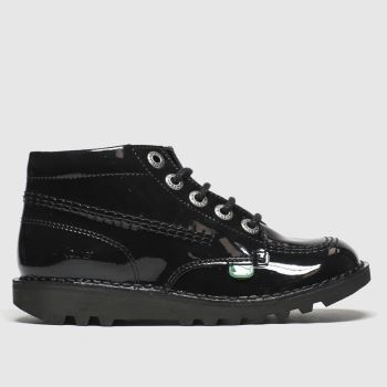 Kickers Black Hi Zip Unisex Junior