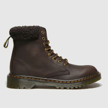 Dr Martens Dark Brown 1460 Collar Unisex Junior