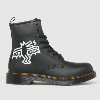 Dr Martens Black & White 1460 Keith Haring Unisex Junior