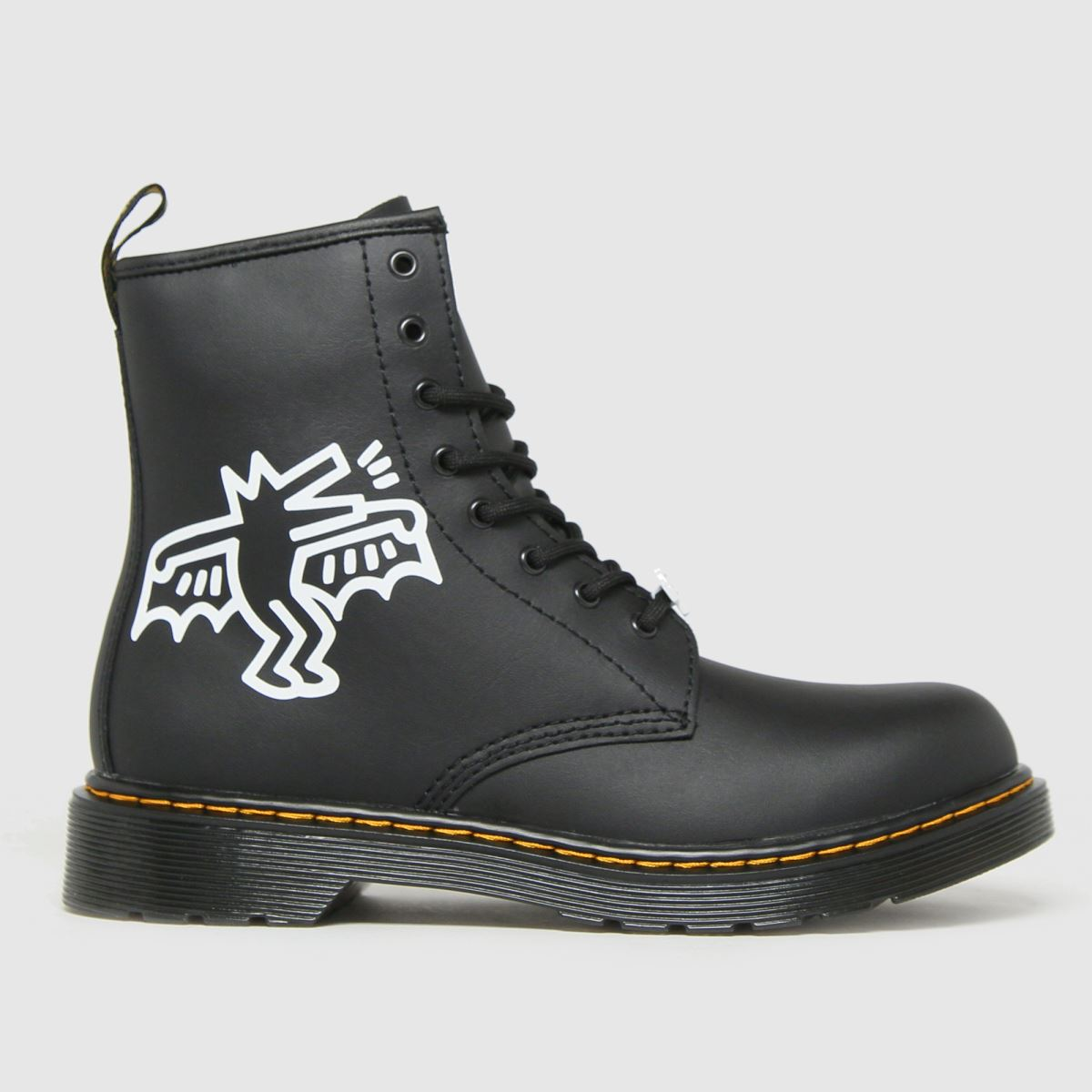 Dr Martens Black & White 1460 Keith Haring Boots Junior