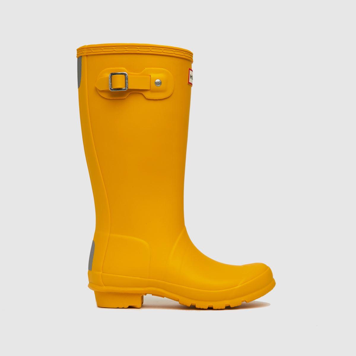 Hunter Yellow Original Jnr Boots Junior