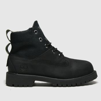 Timberland Black Rebotl 6in Premium Unisex Junior