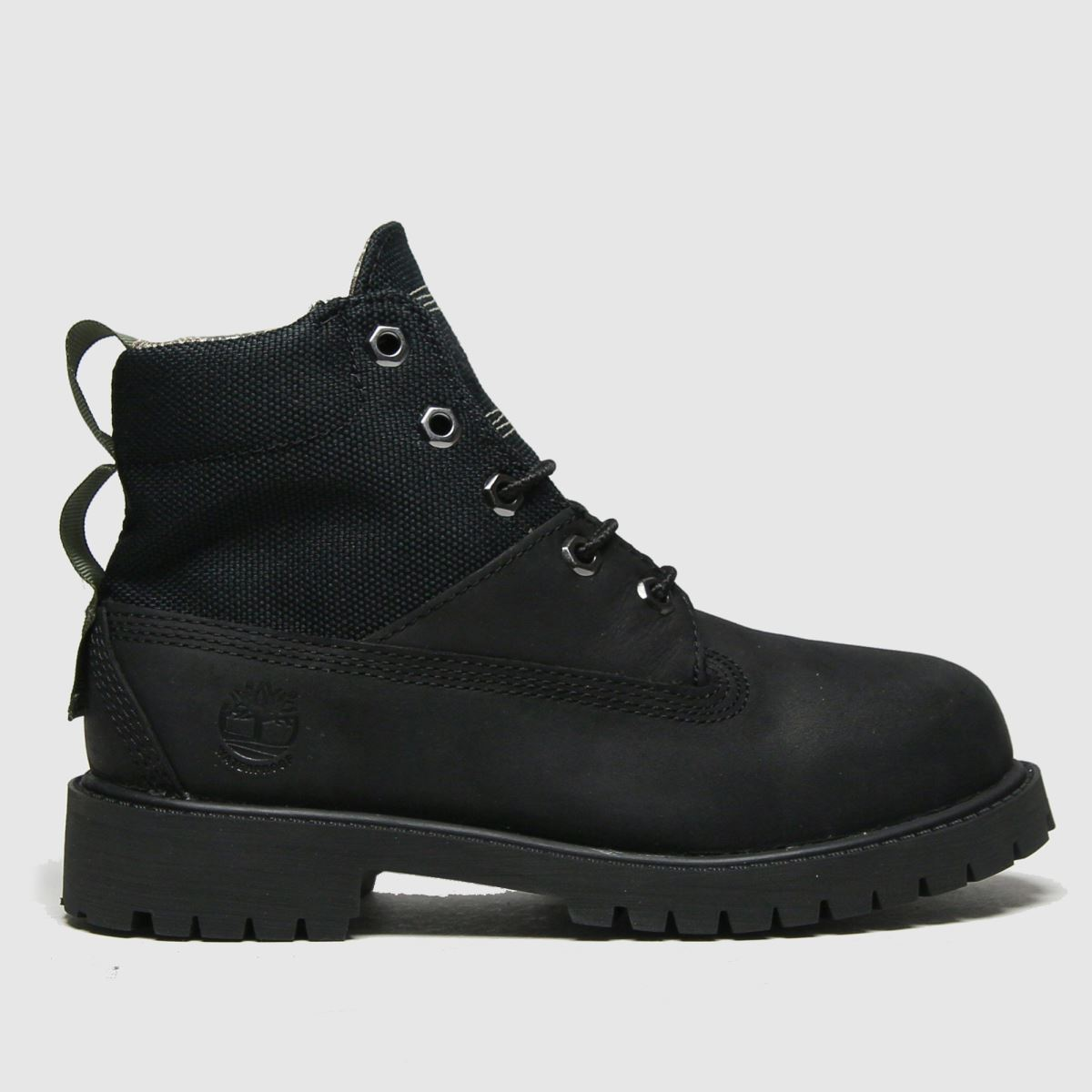 Timberland Black Rebotl 6in Premium Boots Junior