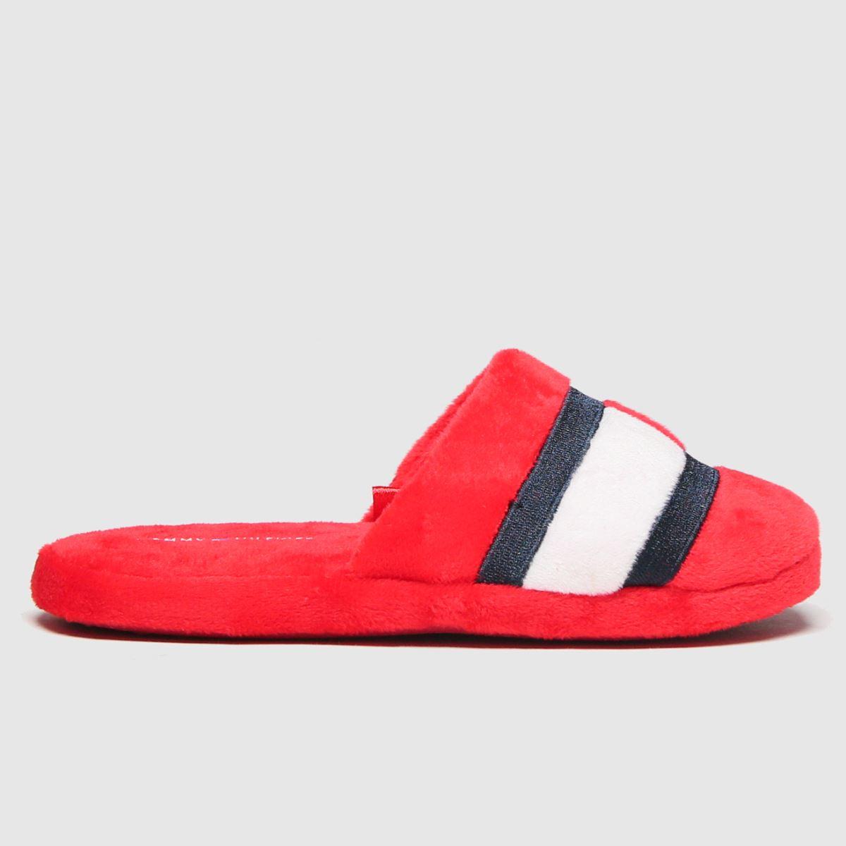 Tommy Hilfiger Red Slipper Boots Junior
