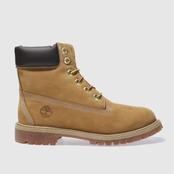 Timberland Natural 6 Inch Premium Unisex Youth#