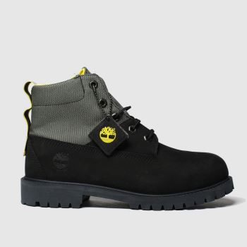 Timberland Black Timb Rebotl 6in Premium Yth c2namevalue::Unisex Youth
