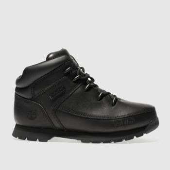 TIMBERLAND BLACK EURO SPRINT YOUTH BOOTS